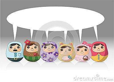 Cartoon Russian Doll card