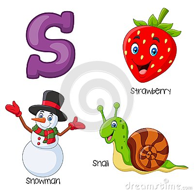 Free Cartoon S Alphabet Stock Photo - 123696920