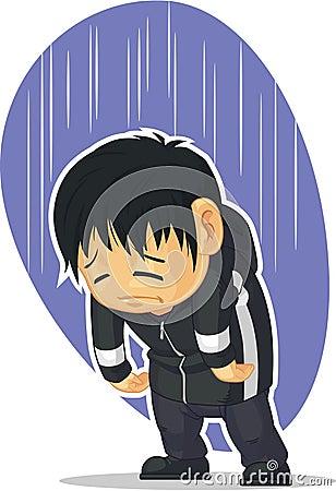 Sad & Lonely Cartoon Boy Royalty Free Stock Photo - Image: 20602205
