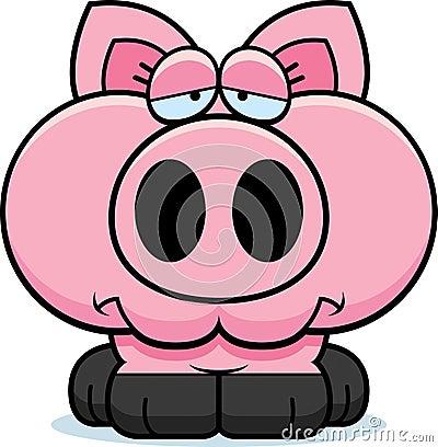 Free Cartoon Sad Pig Stock Photo - 47053770