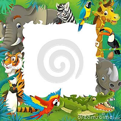 Free Cartoon Safari - Jungle - Frame Royalty Free Stock Photo - 34142445