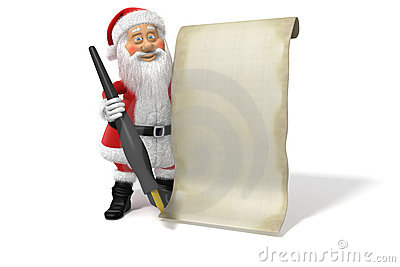 Cartoon Santa Claus Blank List Page