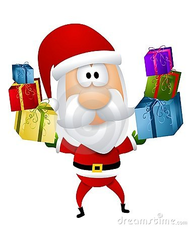 Cartoon Santa Claus Gifts