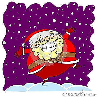 Cartoon santa clause