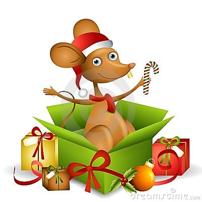 Cartoon Santa Mouse 2