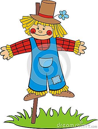 Free Cartoon Scarecrow Stock Image - 14950501