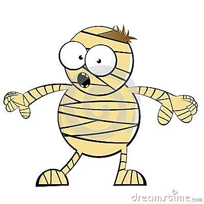 Cartoon scary mummy