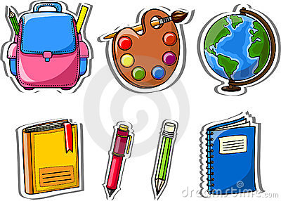 Cartoon school icons,vector