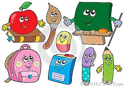 Cartoon school illustrations collections