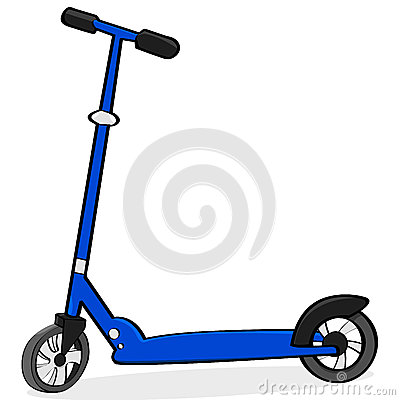 Cartoon scooter