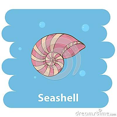 Cartoon Seashell Stock Vector - Image: 68711874