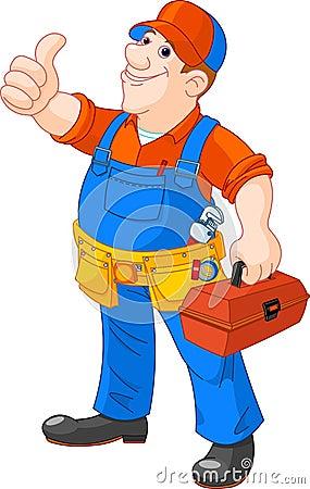 Cartoon serviceman