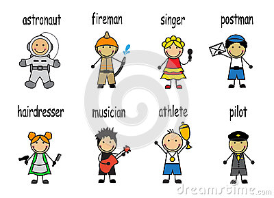 Cartoon set  people of different professions