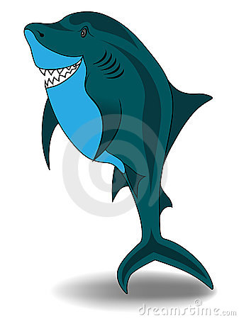 Cartoon Shark - Vector