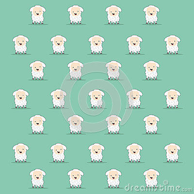 Cartoon sheep texture