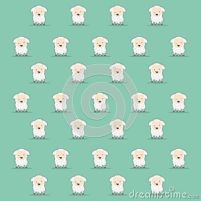 Cartoon sheep texture