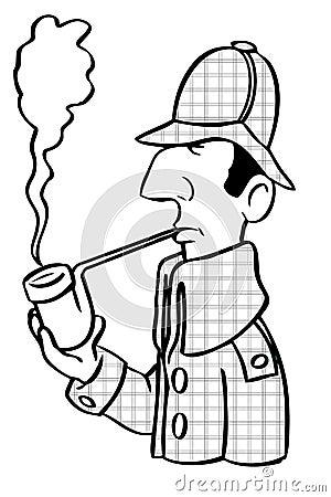 Cartoon Sherlock Holmes