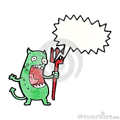 cartoon shrieking devil