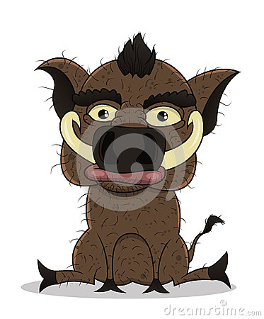 Cartoon sitting boar
