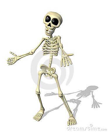 Cartoon Skeleton Welcome