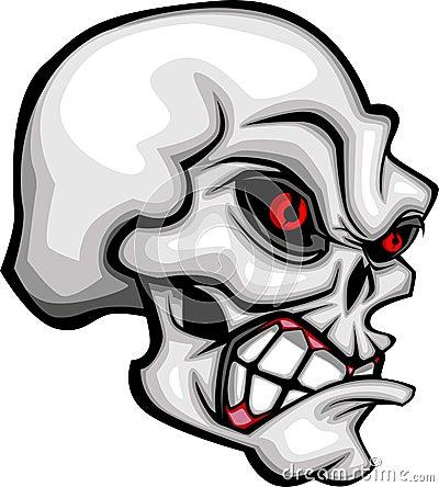 Cartoon Skull Image Vector
