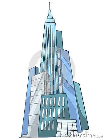 Cartoon Skyscraper Stock Image Image 22922701