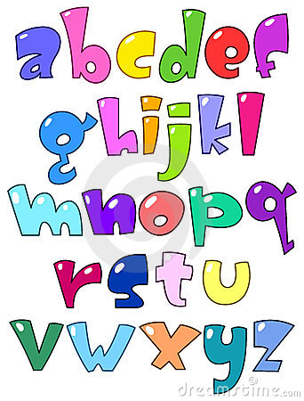Cartoon small alphabet