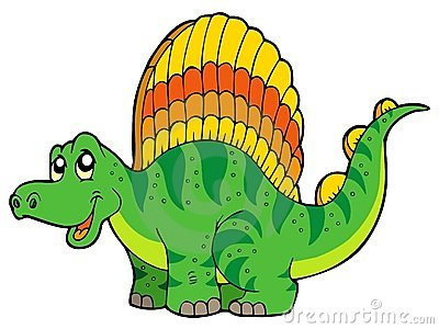 Cartoon small dinosaur