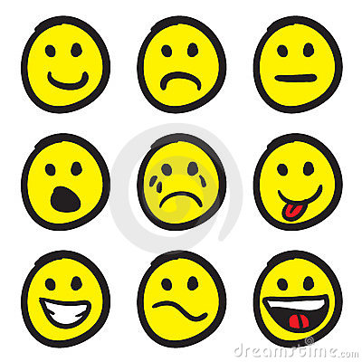 Free Cartoon Smiley Faces Royalty Free Stock Image - 11123946