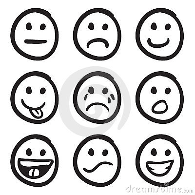 Free Cartoon Smiley Faces Doodles Stock Photo - 11143110