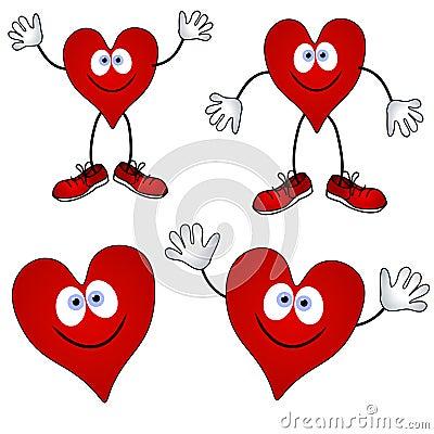 Free Cartoon Smiling Heart Smiles Stock Photo - 3909510