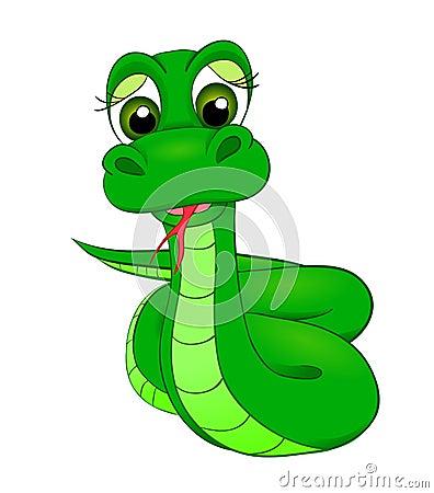 Cartoon snake, the symbol of 2013