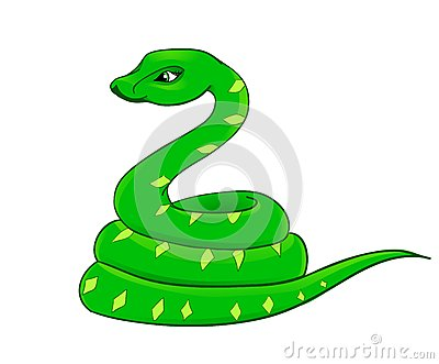 Cartoon snake, the symbol of 2013