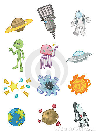 Cartoon space icon