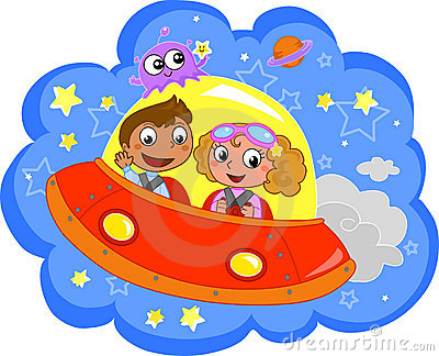 Cartoon Spaceship Royalty Free Stock Photography Image