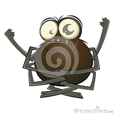 Cartoon Spider with Big Eyes