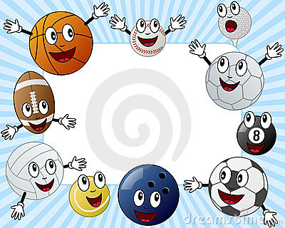 Cartoon Sport Balls Photo Frame
