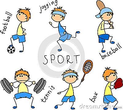Cartoon sport icon vector