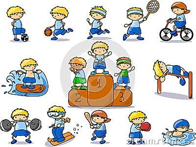 Cartoon sport icon,vector