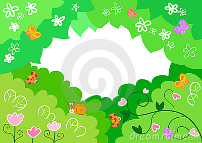 Cartoon spring background