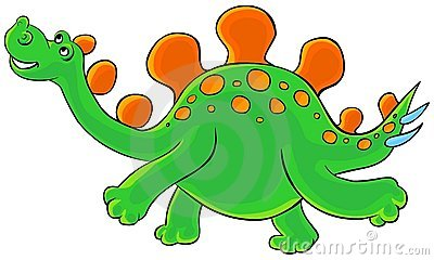 Cartoon Stegosaurus.