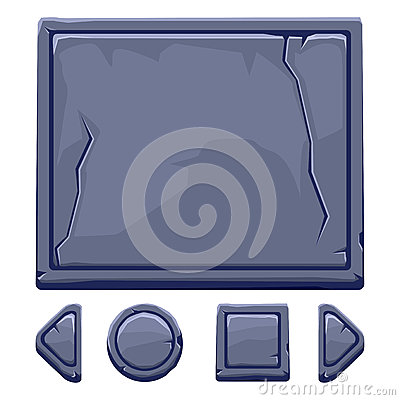 Free Cartoon Stone Assets And Buttons For Ui Game Royalty Free Stock Image - 83877336