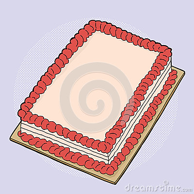 Cartoon Strawberry Cake Stock Vector - Image: 44166082