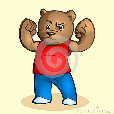 Cartoon strong bear