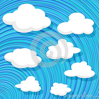 Cartoon style clouds