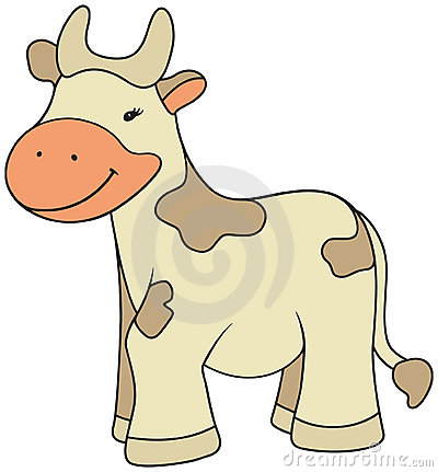 Cartoon style cow illustration