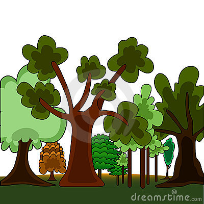 Cartoon style forest