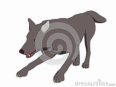 Cartoon Style Wolf