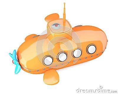 Cartoon-styled submarine