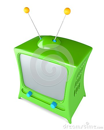 Cartoon styled tv